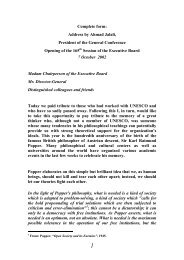 Address by Ahmad Jalali, President of the General ... - Unesco