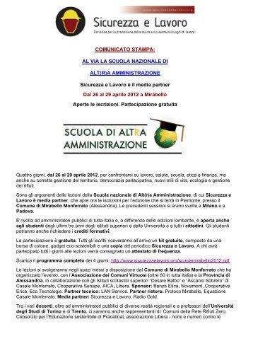 AL VIA LA SCUOLA NAZIONALE DI ALT(R)A AMMINISTRAZIONE ...