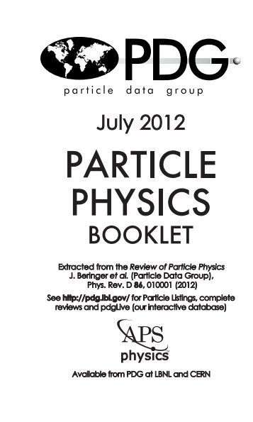 Technical Associates - Particle Data Group - Lawrence Berkeley ...