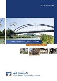 Geschäftsbericht 2012 - Volksbank eG