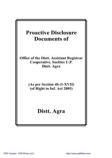 Asstt. Registrar Cooperative Society (04/08/2007) - Agra