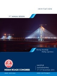 Booklet of IRC 71 Annual Session[1].pdf - Indian Roads Congress
