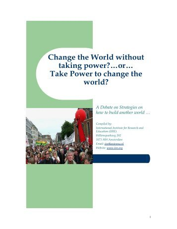 Take Power to change the world? - Marxsite