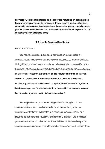 Informe_Proyecto-agosto-2008.pdf - Mendoza CONICET