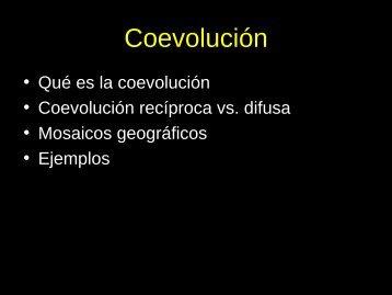 Coevolución - Mendoza CONICET