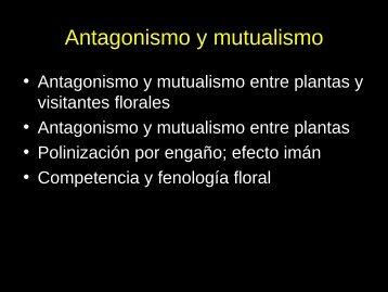 Antagonismo y mutualismo - Mendoza CONICET