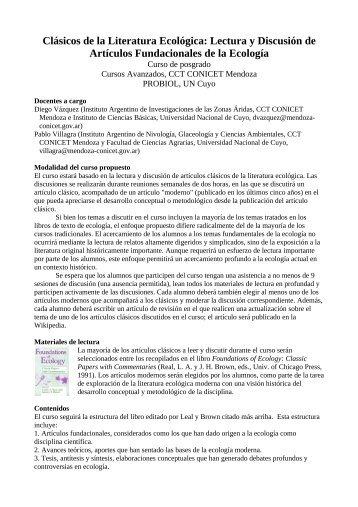 programa - Mendoza CONICET