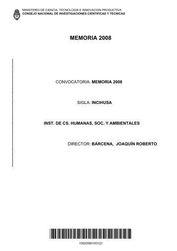 10620090100120 - Mendoza CONICET