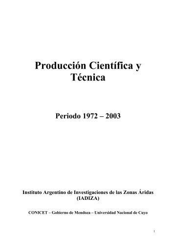 REVISTAS CIENTÍFICAS - Mendoza CONICET