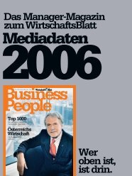 Das Manager-Magazin zum WirtschaftsBlatt Wer oben ist, ist drin.