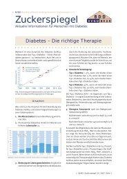 Zuckerspiegel 1: Diabetes - Die richtige Therapie - BVND