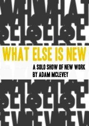 Show catalogue - Adam Mclevey