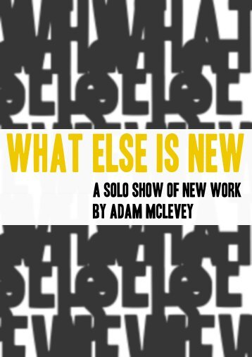 Show catalogue - Adam Mclevey