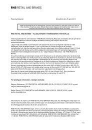 Pressmeddelande Stockholm den 25 april 2013 RNB ... - Cision