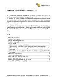 kundeninformation zur önorm b 4710-1 - Deisl-Beton