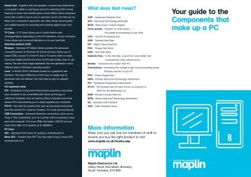 Computer Anatomy - Maplin Electronics