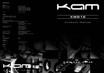 KMD10 product manual - Maplin Electronics