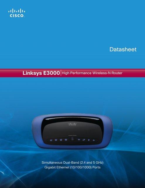 Linksys E3000 Datasheet