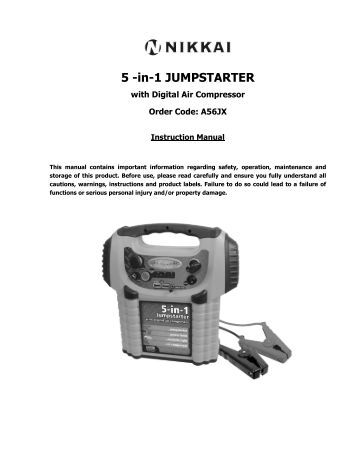 5 -in-1 JUMPSTARTER - Maplin Electronics