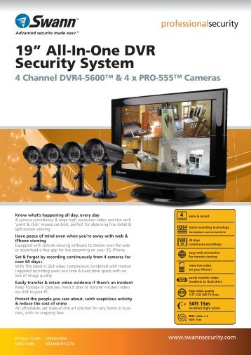 """19"""" All-In-One DVR Security System - Maplin Electronics"""