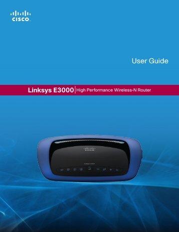 Linksys E3000 User Guide