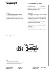 T-1 (3mm) BLINKING LED LAMPS Description Package Dimensions ...