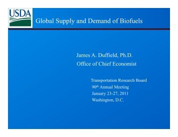 Global Supply and Demand of Biofuels