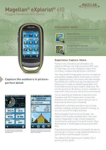 Magellan® eXplorist® 610 - Maplin Electronics