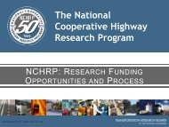 nchrp - Center for Transportation Analysis