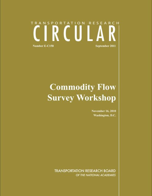 E-C158 Cover1 - Center for Transportation Analysis - Oak Ridge ...