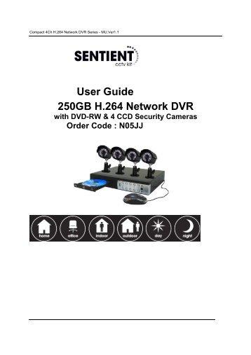 User Guide 250GB H.264 Network DVR