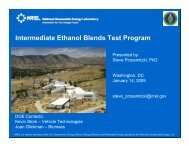 Intermediate Ethanol Blends Test Program - Center for ...