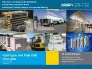 Hydrogen and Fuel Cell Overview - Center for Transportation Analysis