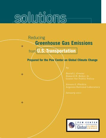 Greenhouse Gas Emissions from U.S. Transportation - Center for ...