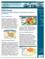 ORNLReady: - Center for Transportation Analysis - Oak Ridge ...