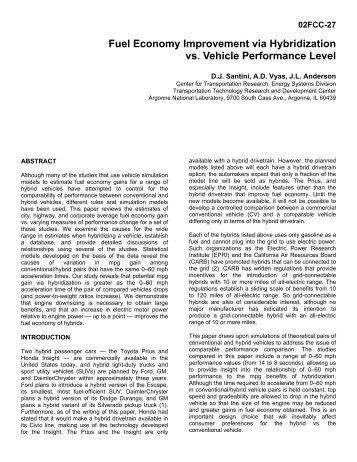 D.J. Santini, A.D. Vyas and J. L. Anderson - Fuel Economy ...