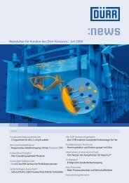 Download Newsletter 07/2009 (PDF 0,7 MB) - Dürr
