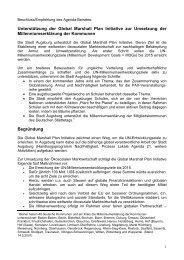 Augsburg - Global Marshall Plan