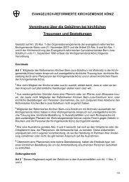 Verordnung über die Gebühren bei kirchlichen Trauungen und ...