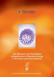 The Relevance for Food Safety of Applications of ... - Nanowerk