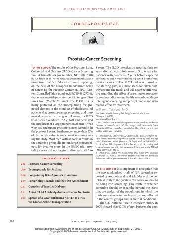 Prostate-Cancer Screening