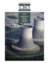 CBO Nuclear Power's Role in Generating Electricity