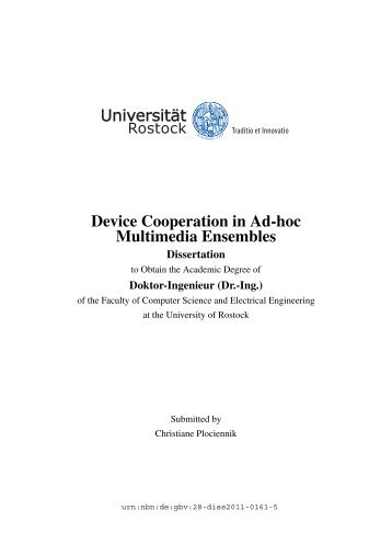 Device Cooperation in Ad-hoc Multimedia Ensembles - RosDok