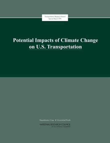 RB Special Report 290, The Potential Impacts of Climate Change on ...