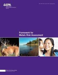 Framework for Metals Risk Assessment - denix