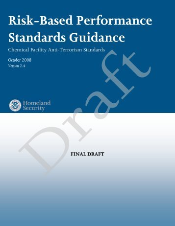 Risk-Based Performance Standards Guidance