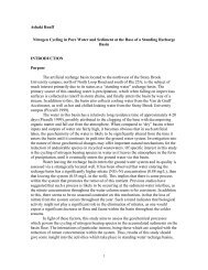 Nitrogen Cycling in Pore Water and Sediment at the Base of a ...
