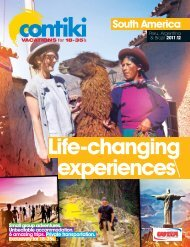 South America - Contiki