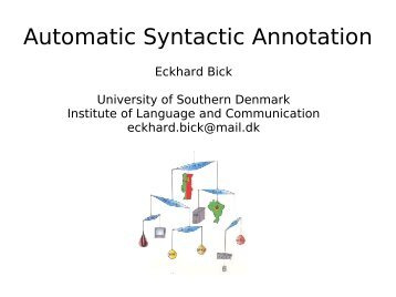 Automatic Syntactic Annotation - VISL