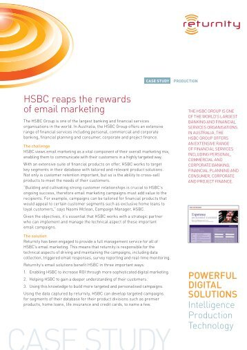 HSBC reaps the rewards of email marketing